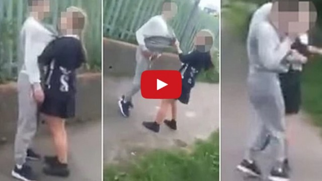 VIDEO: Pusaudžu meitene sadod pa seju puisim! (Foul-mouthed Schoolgirl PUNCHES Boy In Face!)