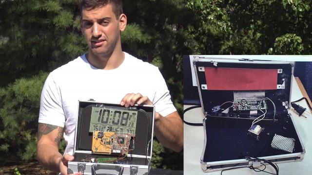 """VIDEO: Kā cilvēki reaģēja, kad vīrietis ASV uz ielas mēģināja palaist paštaisītu """"spridzekli""""!?"""