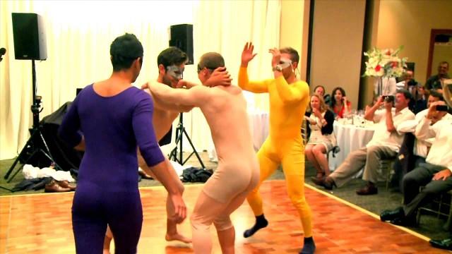 VIDEO: Neticami! Kā drauga kāzās dejo Kanādas hokejisti? (Devin Setoguchi's wedding dance video featuring Kris Versteeg and Jason Demers silly & hilarious)