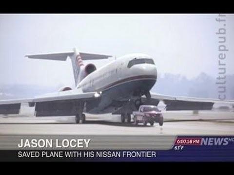 VIDEO: Nissan Frontier pikaps palīdz nosēdināt lidmašīnu! (Plane crashes on landing ? Hero saves the day ! Terrific parody)