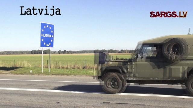 VIDEO: No Lietuvas Latvijā iebrauc iespaidīga kara tehnika!