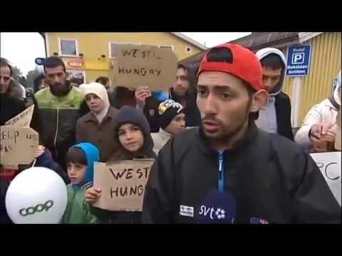 VIDEO: Patvēruma meklētāji Eiropā uzvedas kā tādi neapmierināti tūristi!