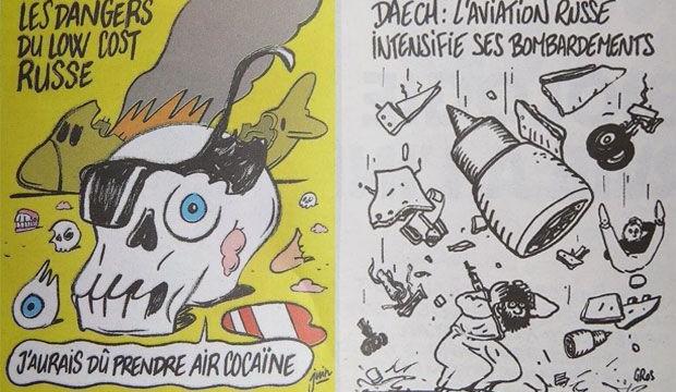 """""""Charlie Hebdo"""" joko par Krievijas aviokatastrofu! Krievijā – sašutums un apvainošana zaimošanā!"""