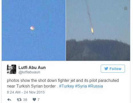 Notriektā Krievijas iznīcinātāja pilotu sašāvuši nemiernieki!