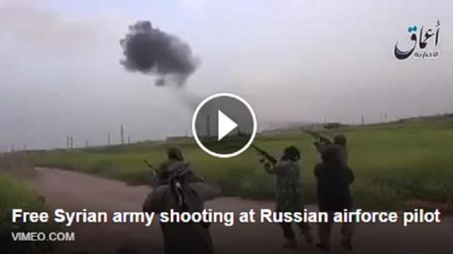 VIDEO: Publicēts šokējošs video, kurā redzams, kā nemiernieki apšauda katapultējošos pilotus! 18+