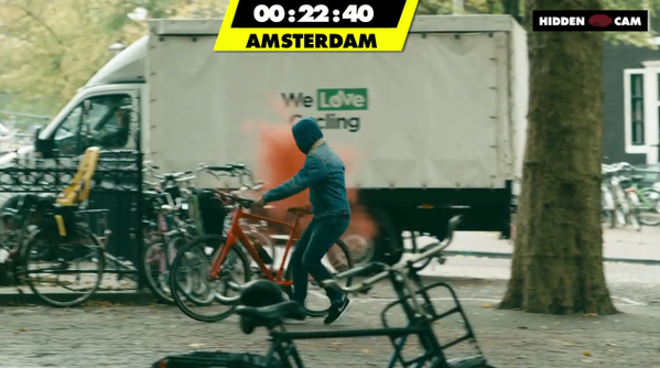VIDEO: Smieklīgi! Eiropas čempionāts velosipēdu zagšanā!