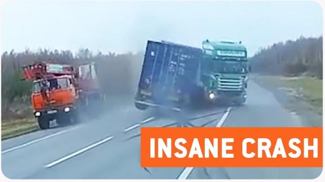 VIDEO: Nav joka lieta ko tādu uz ceļa piedzīvot! Briesmīgi!