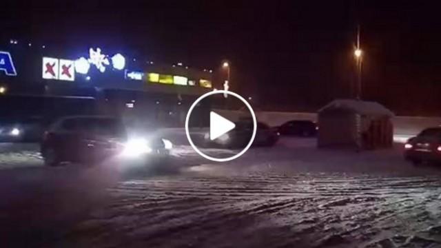 VIDEO: Saldū pirmā sniega driftotāji ielenc un izsmej ceļu policistus!