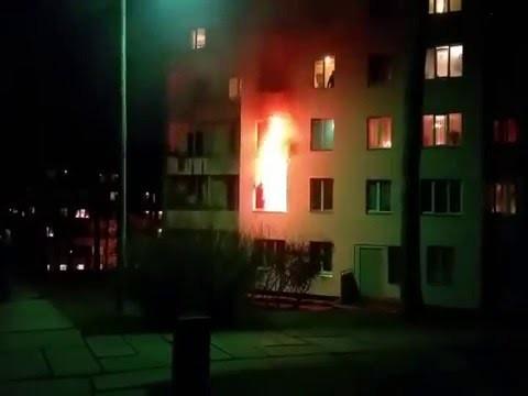 Aculiecinieka video: Ogrē liesmas pārņem dzīvokli!