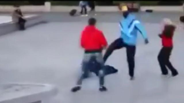 VIDEO: Kaut katrs vīrietis tā spētu aizstāvēt savu sievieti no imigrantiem!
