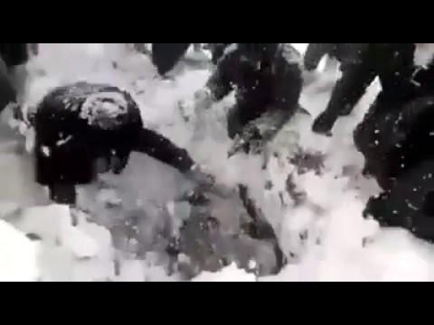 VIDEO: Karavīrs tiek izglābts pēc tam, kad 6 (!) dienas pavadījis zem sniega..