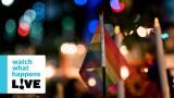 VIDEO, FOTO: Neparasts skats Orlando slaktiņa upuru piemiņas pasākuma laikā..