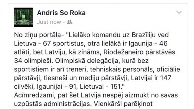 Jo Latvijai no kopējās Rio olimpiādes delegācijas sportisti ir nieka… 23,1%! Pārējie vienkārši brauc līdzi!