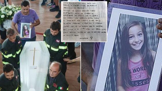 Ugunsdzēsēja vēstule drosmīgajai māsai, kas Itālijas zemestrīces laikā zaudēja dzīvību, glābjot māsiņu..