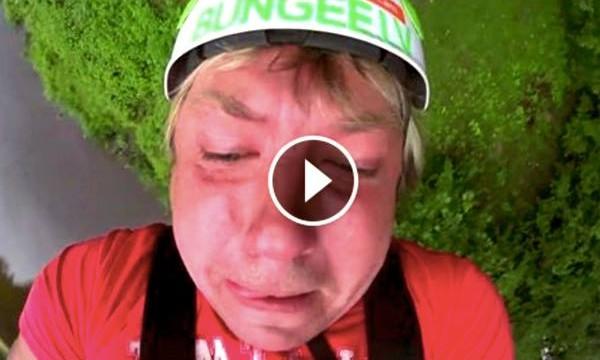 VIDEO: Necenzēts video! Kā Uldis izleca ar gumiju no Siguldas vagoniņa!