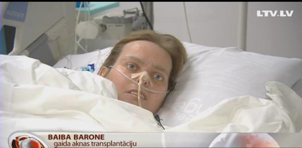 Valsts tomēr atradusi naudu smagi slimās Baibas Tartu slimnīcas rēķina segšanai!
