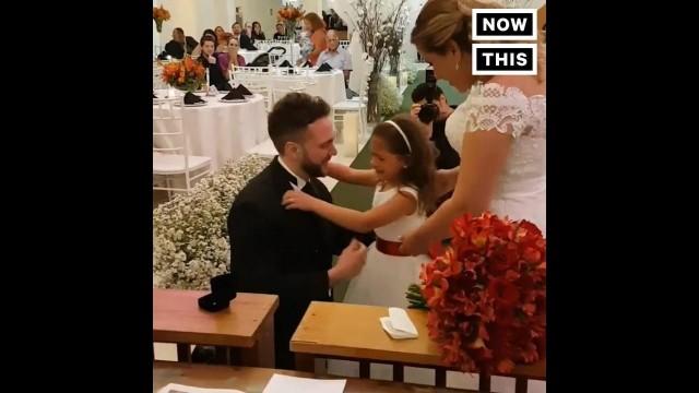 VIDEO: Aizkustinoši! Sirsnīgs un negaidīts bildinājums 6 gadus vecai meitenei..