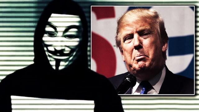 """VIDEO:  """"Anonymous"""" vēstījums Donaldam Trampam!"""