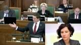 """Artusa Kaimiņa atklātā uzruna Saeimā: """"Latvijas lielākā nelaime ir Aivars Lembergs!"""""""