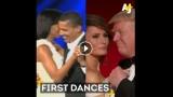 VIDEO: Salīdzini! Pirmā deja – Obama ar kundzi un Tramps ar sievu!