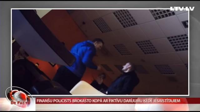 VIDEO: Finanšu policists Ronalds Vītols vairākkārt brokasto ar fiktīvu darījumu ķēdes dalībniekiem!