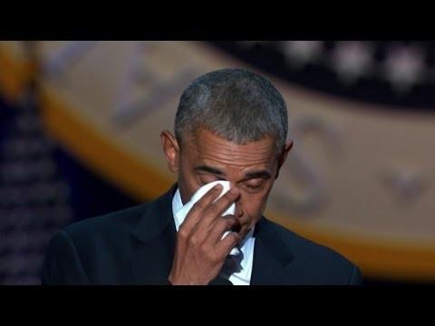 VIDEO: Baraks Obama apraudas, runājot par savu sievu.. Pavisam drīz viņu nomainīs Tramps.