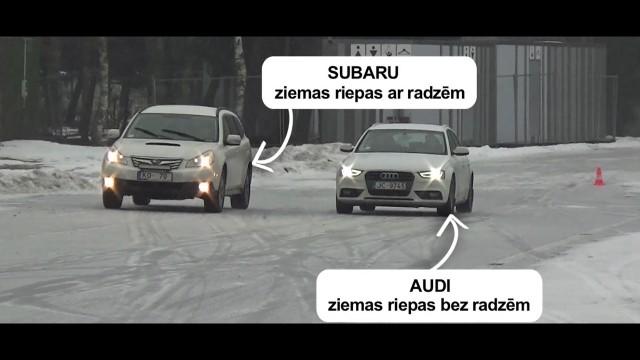VIDEO: Noskaties! Biķerniekos tiek izmēģināti dažādas ziemas bremzēšanas tehnikas!