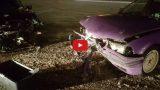 VIDEO: Elkor veikala stāvlaukumā BMW driftošana beidzās ļoti bēdīgi – divu auto frontāla sadursme!
