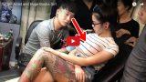 VIDEO: Tetovēšanas laikā pēkšņi UZSPRĀGST meitenes krūts!