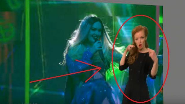 """VIDEO: KOLOSĀLI! Eirovīzijas dziesma Triana Park """"Line"""" SURDOTULKOTĀJAS izpildījumā ir ĢENIĀLA!"""