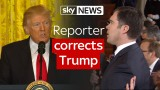 VIDEO: Žurnālists pieķer Donaldu Trampu melos! ASV prezidents taisnojas, kā, nu, māk!