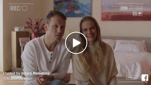 VIDEO: Jautri aizkadri! Kā tika filmēta gultas matrača reklāma ar aktieri Intaru Rešetinu?