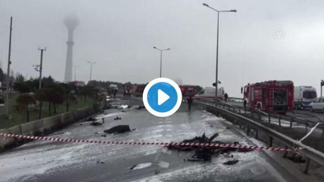 VIDEO: Stambulā helikopters ietriecas televīzijas tornī! Vismaz 5 bojāgājušie! Arī Krievijas uzņēmēji!