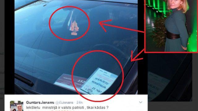 Noskaidrots, kam pieder auto ar Latvijas Iekšlietu ministrijas caurlaidi un… KRIEVIJAS karogu stiklā!?