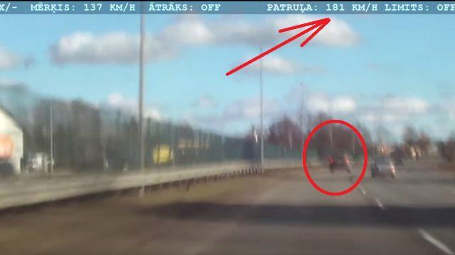 VIDEO: Kā policisti uz Jūrmalas šosejas traucās ar 180 km/h ķerot 19 gadīgu šoferi – meiteni!