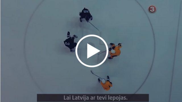 VIDEO: Tapis IEDVESMOJOŠS un SPĒCĪGS video par LATVIJAS hokeja izlasi!