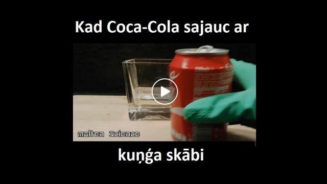 Padalies! Lūk, kas notiek, kad Coca-cola vēderā sajaucās ar kuņģa skābi!