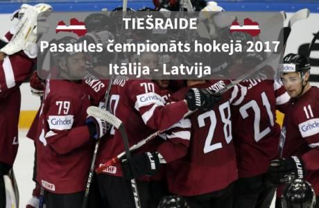 VIDEO TIEŠRAIDE: LATVIJA : ITĀLIJA | Pasaules čempionāts hokejā 2017