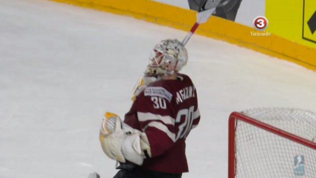Mums ir ar ko lepoties! Merzļikins šobrīd PČ hokejā ieņem augsto 2. vietu starp labākajiem vārtsargiem!