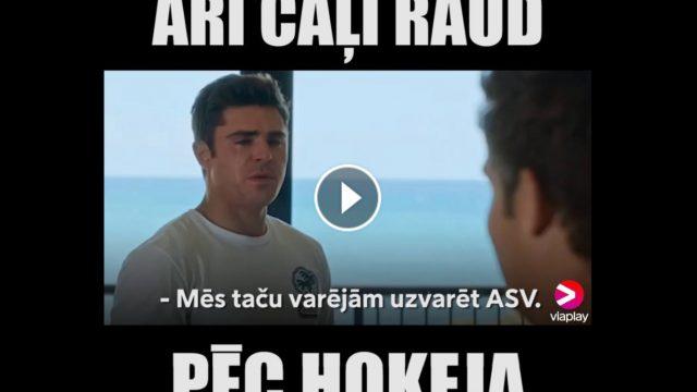 VIDEO: Pēc hokejā arī ČAĻI RAUD!