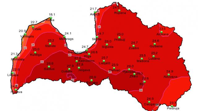 Beidzot VASARA, bet UZMANIES! Sinoptiķi brīdina par stipru karstumu šodien un rīt!