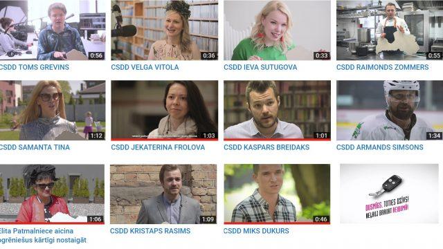 """VIDEO: Novērtē! CSDD laiž klajā Jāņu 2017 reklāmas """"Dusmīgs toties dzīvs"""" ar virkni slavenībām!"""