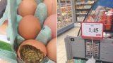 FOTO: Pretīgi! Rimi veikalā pārdod olas, kas ir pilnas ar TĀRPIEM!