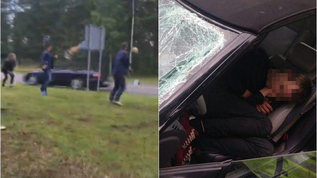 FOTO: Lūk, kādā stāvoklī atrasts šoferis, kurš Rojā notrieca vīrieti un aizbēga!