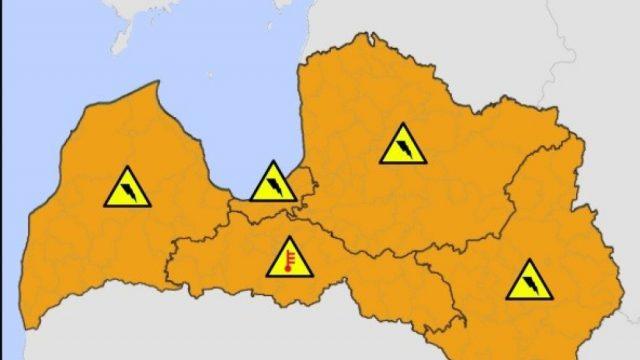 UZMANĪBU: Sinoptiķi šodien vakarā izsludinājuši oranžo brīdinājumu visai Latvijai!