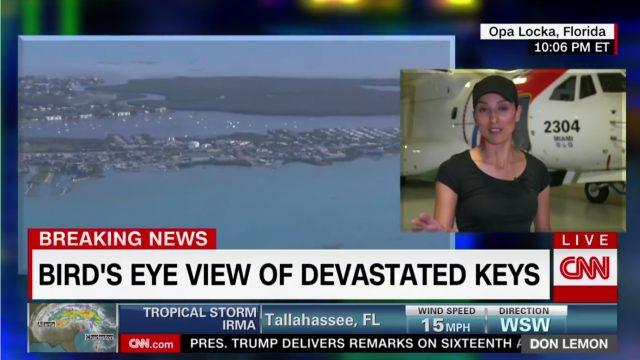"""VIDEO: Florida pēc vētras """"Irma"""" daļēji zem ūdens! CNN reportieri dodas lidojumā pāri Floridai!"""