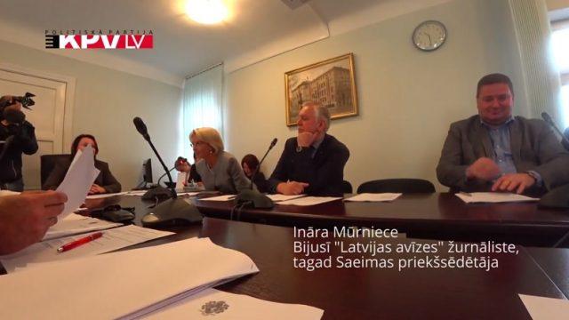 VIDEO: Saeimas priekšsēdētāja Mūrniece tā vietā, lai atbildētu, vienkārši paņirgājas par Kaimiņu!