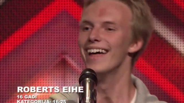"""VIDEO: Kaupera balss dubultnieks – Roberts Eihs pārsteidz žūriju un visus klātesošos """"X Faktorā""""!"""