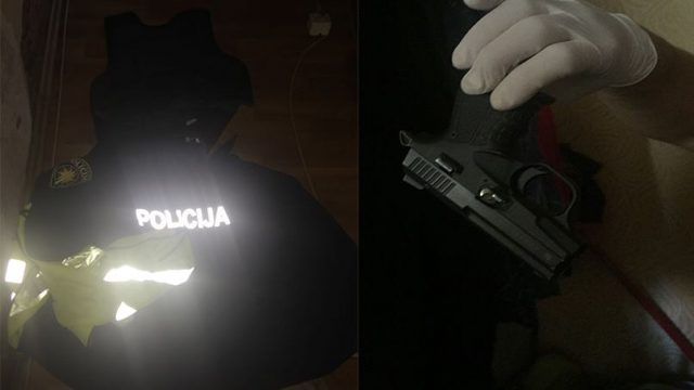 FOTO: Vecmīlgrāvī apšaudē 2 cietušie! Policija pie šāvēja atrod ieročus, policista formu, maskas…