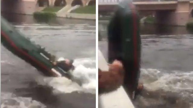"""VIDEO: Kad centies """"mest saulītes"""" ar piepūšamo motorlaivu…"""
